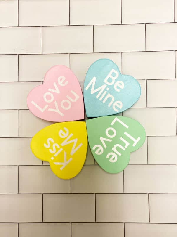 DIY Valentine Conversation Hearts Made With The Cricut