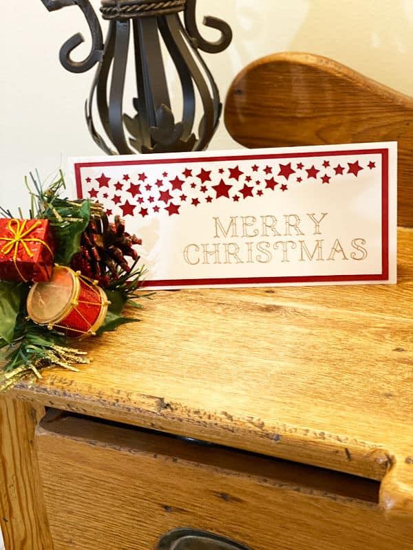 DIY Christmas Card With The Foil Transfer Kit