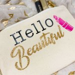 Makeup Bags With HTV (Heat Transfer Vinyl)