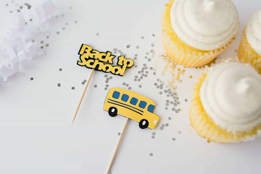 DIY Back To School Cupcake Toppers